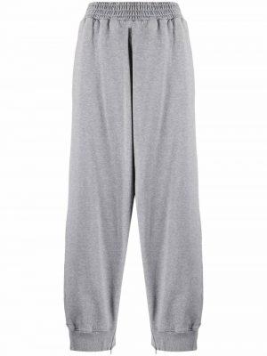 MM6 side slit-detail track pants grey