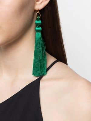 JIL SANDER 21PF JSPS836119 WSS80052 300 Thread Earrings Green
