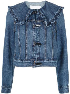 GANNI high-rise flared jacket