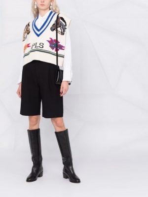 Philosophy intarsia-knit sleeveless vest