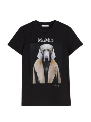 Maxmara DOGSTAR cottonT-shirt Black