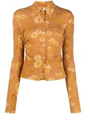 Nanushka Felda floral print shirt