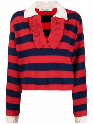Philosophy ruffle-trimmed stripedjumper