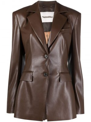 Nanushka artificial leather jacket