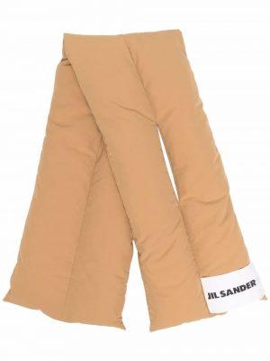 Jil Sander logo-patch padded scarf