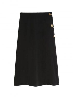 Sportmax VANNA Flared skirt with piercing detail