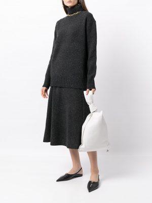 Joseph high-neck tweed jumper