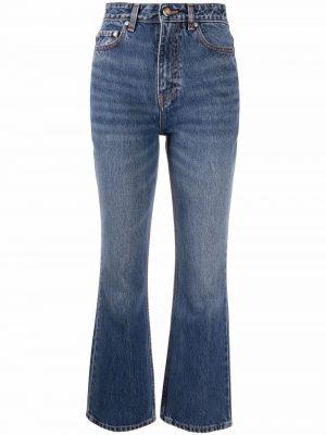GANNI high-rise flared jeans
