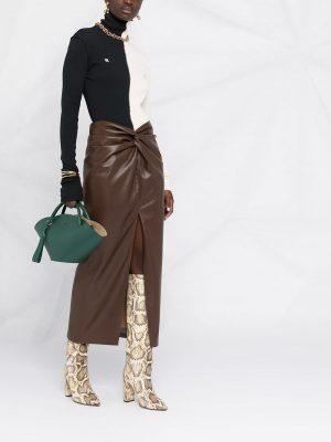 Nanushka Inci twist-front pencil skirt