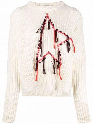 Golden Goose Dottie mending embroidered jumper