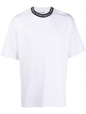 Acne studios logo neckT-shirt white