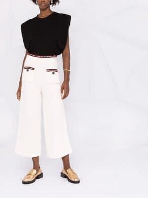 Self Portrait Waffle Knit trousers