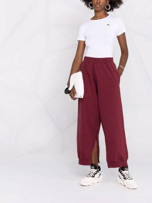 MM6 side slit-detail track pants burgundy