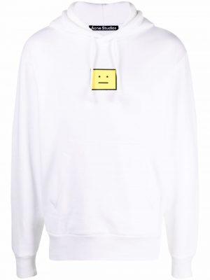 Acne studios face logo hoodie