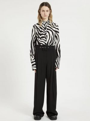 Sportmax AGGETTO wide belted trousers trousers