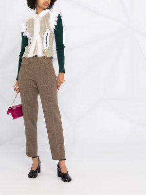 Maison Margiela tweed high-waist trousers