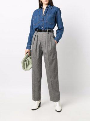 Isabel Marant Etoile pleated high-waistedtrousers
