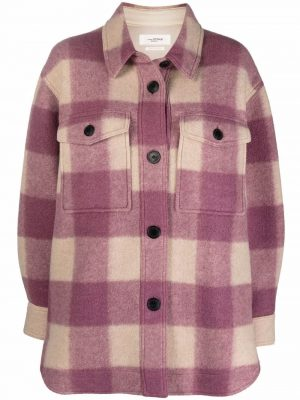 Isabel Marant Eoile check-print buttoned coat
