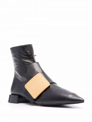 Jil Sander buckle-detail pointed ankle boots