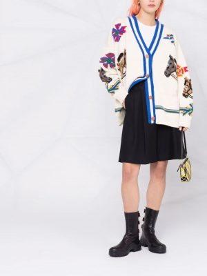 Philosophy equestrian-knit wool cardigan
