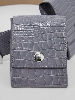 Maxmara ORIONE Crocodile print leather belt
