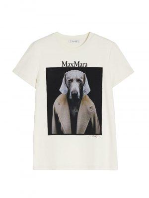 Maxmara DOGSTAR cottonT-shirt White