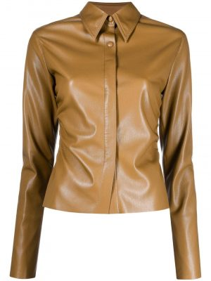 Nanushka Shado faux-leather shirt