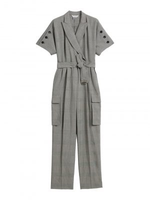 Maxmara BARI Wool canvas jumpsuit