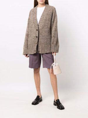 Maison Margiela long-sleeve chunky knitted cardigan