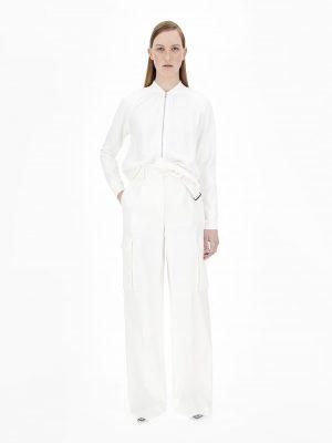 Maxmara NEBBIA Gabardine wool trousers