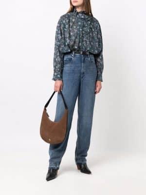 Isabel Marant Etoile ruffled floral-print blouse
