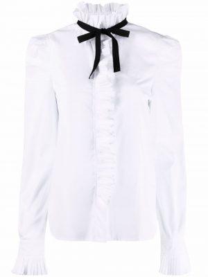 Philosophy ruffle-collar cotton shirt
