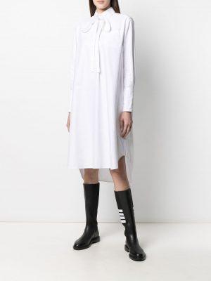 Thom Browne tie-fastening long-sleeve shirt dress