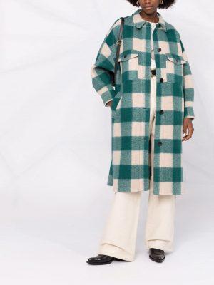 Isabel Marant Etoile 21FW MA098521A009E 60GR EFONTIZI Coat Green