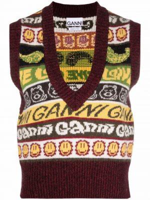 GANNI smiley knitted vest top