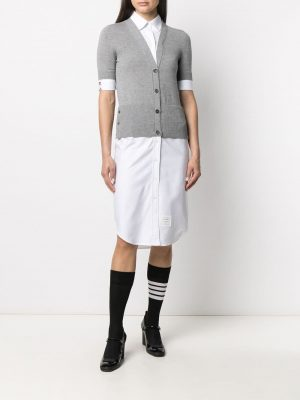 Thom Browne cardigan overlay shirtdress