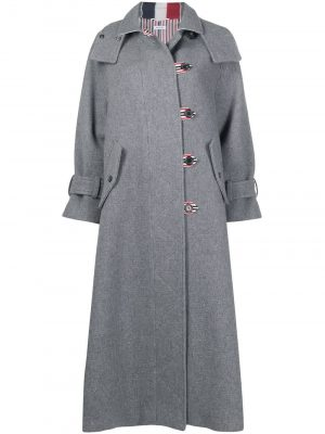 Thom Browne RWB-stripe long duffle coat