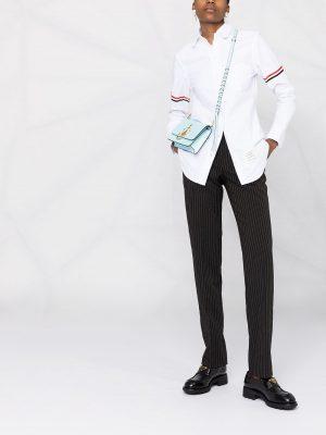 Thom Browne 21FW FLL019E06177100 Classic  round collar shirt White