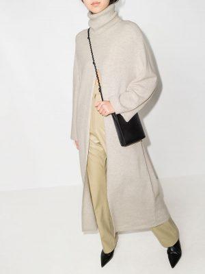 Joseph 21PF JF005521 1154 Viviane slit-front wool dress Birch