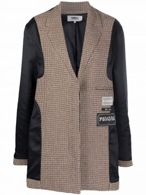 MM6 single-breasted panelled coat