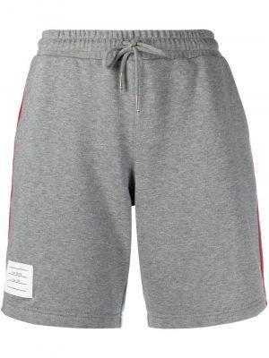 Thom Browne RWB-stripe track shorts