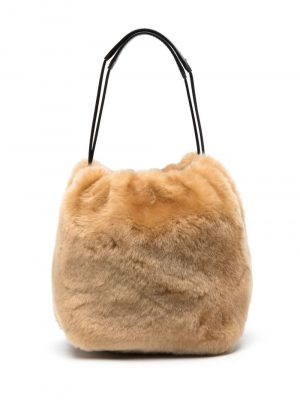 Jil Sander llama fur bucket bag
