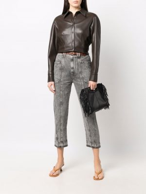 Isabel Marant Etoile high-rise cropped jeans