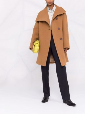 Acne Studios funnel-neck double-breasted coat