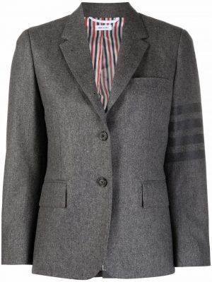 Thom Browne 4-Bar stripe cropped blazer