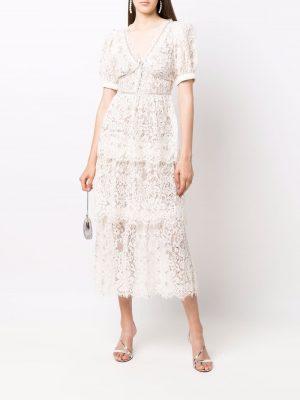 Self Portrait tiered lace dress
