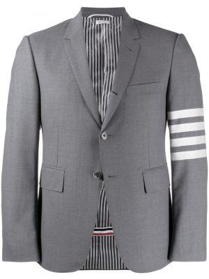 Thom Browne 21FW MJC001A06146035 Classic 4 bar weave blazer Grey