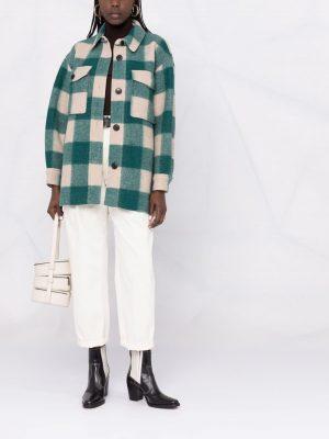 Isabel Marant Etoile Harveli checked coat