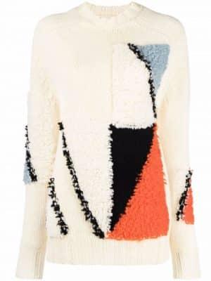 Jil Sander colour-block wool jumper