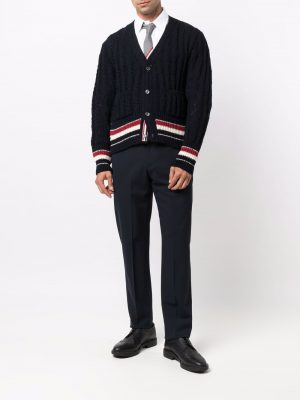 Thom Browne cable-knit wool-mohair cardigan